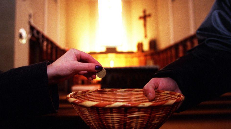 Donation til kirkekassen ved gudstjeneste