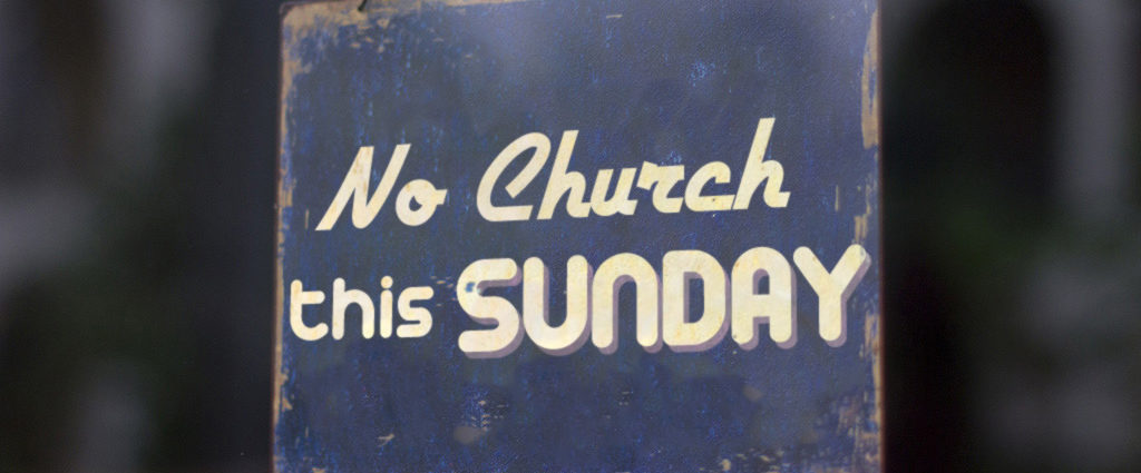 No church this sunday metal skilt